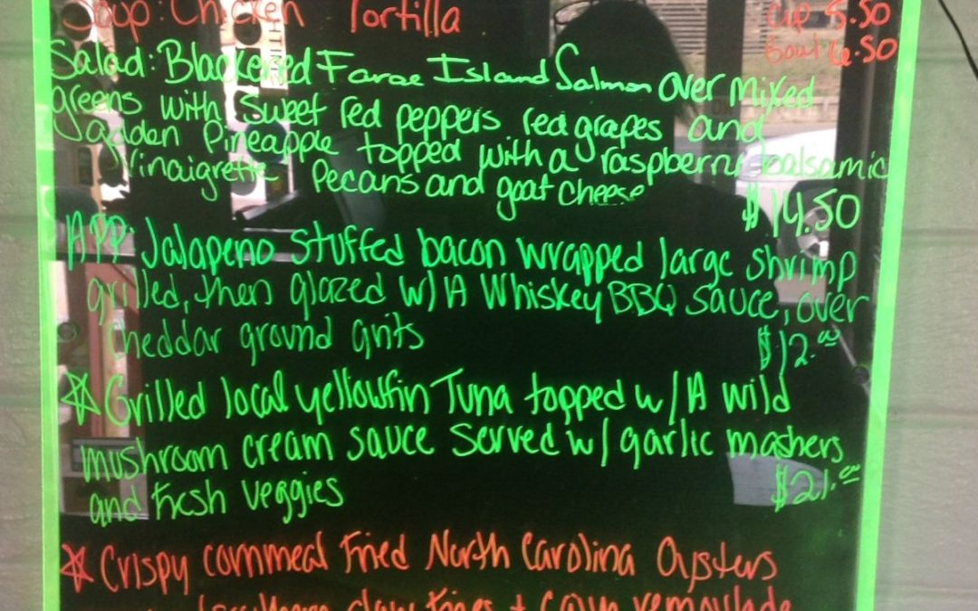 Dinner Specials 2-23-17