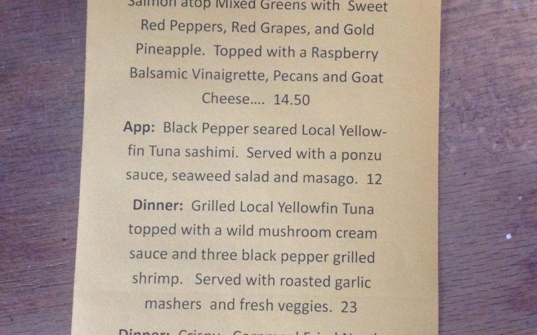 Dinner Specials 2/24/17