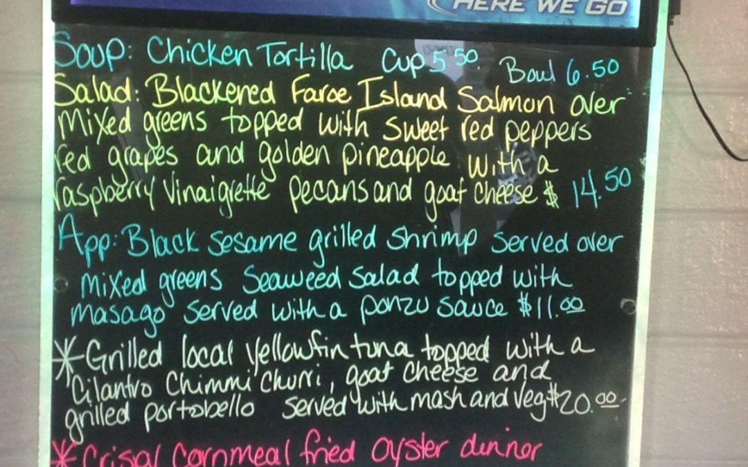 Dinner Specials 2-26-17