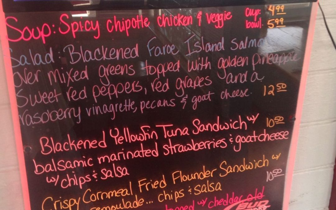 Lunch Specials 4/25/17