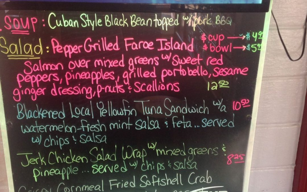 Lunch Specials 5/2/17