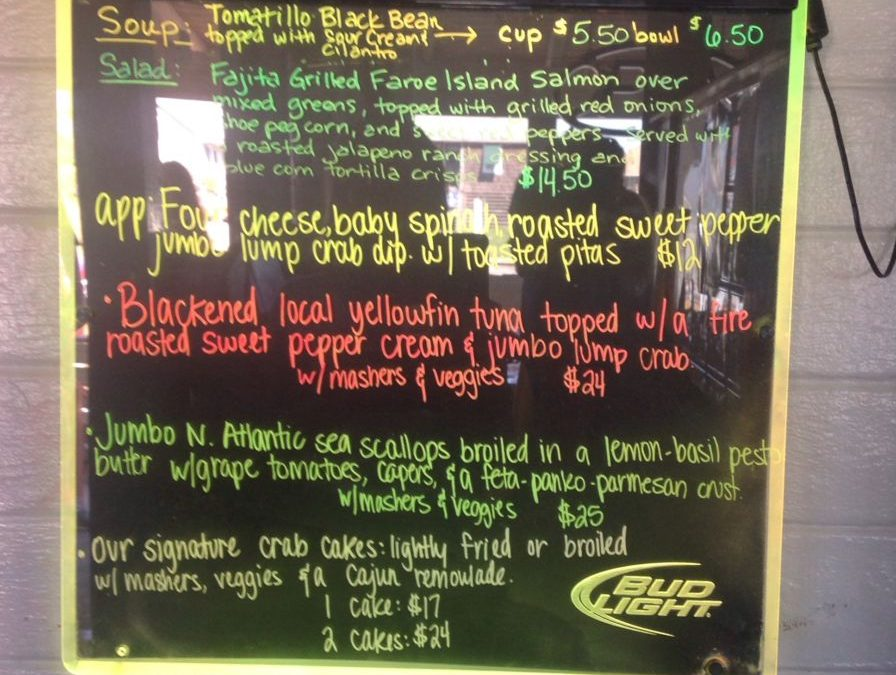 Dinner Specials 7.26.17