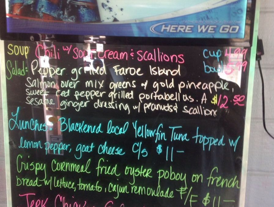 Lunch Specials 10/08/2017
