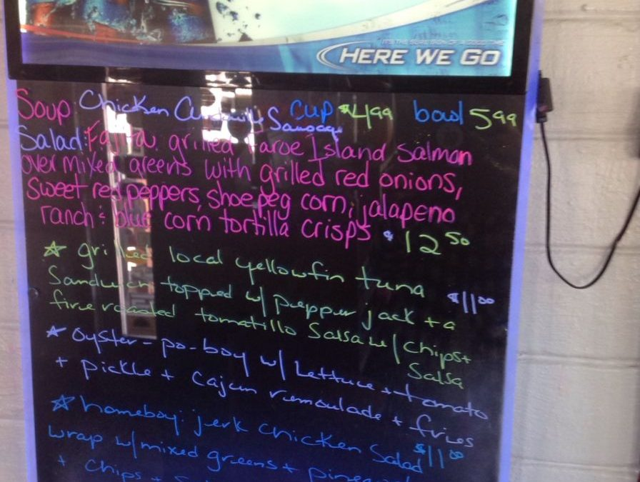 Lunch Specials 10/30/2017