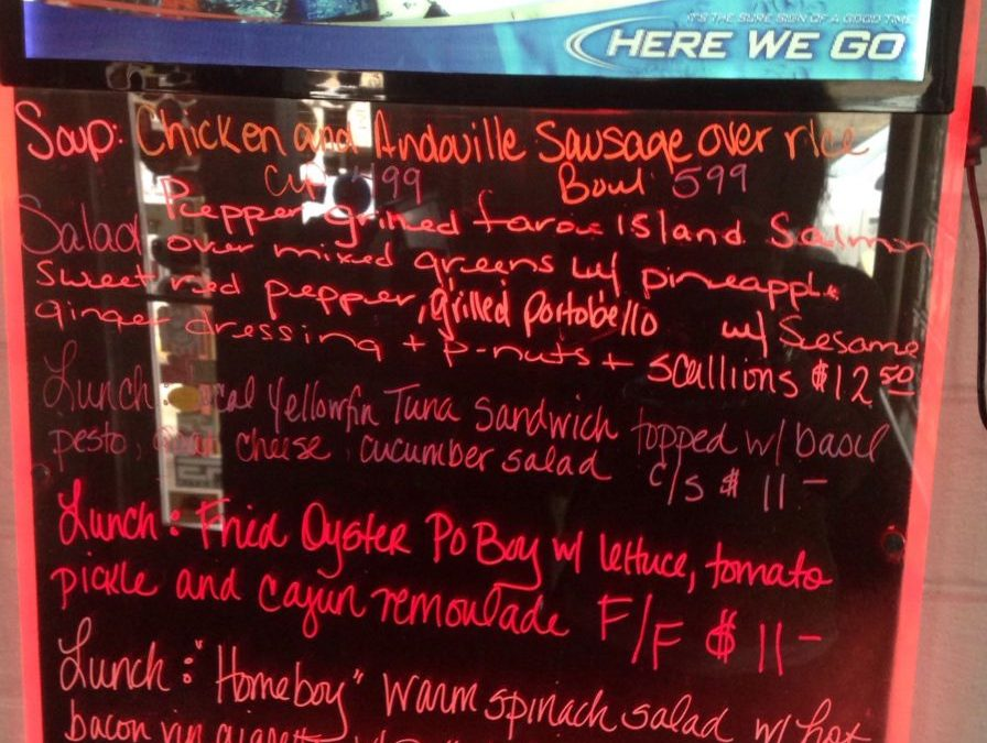 Lunch Specials 2/19/2018