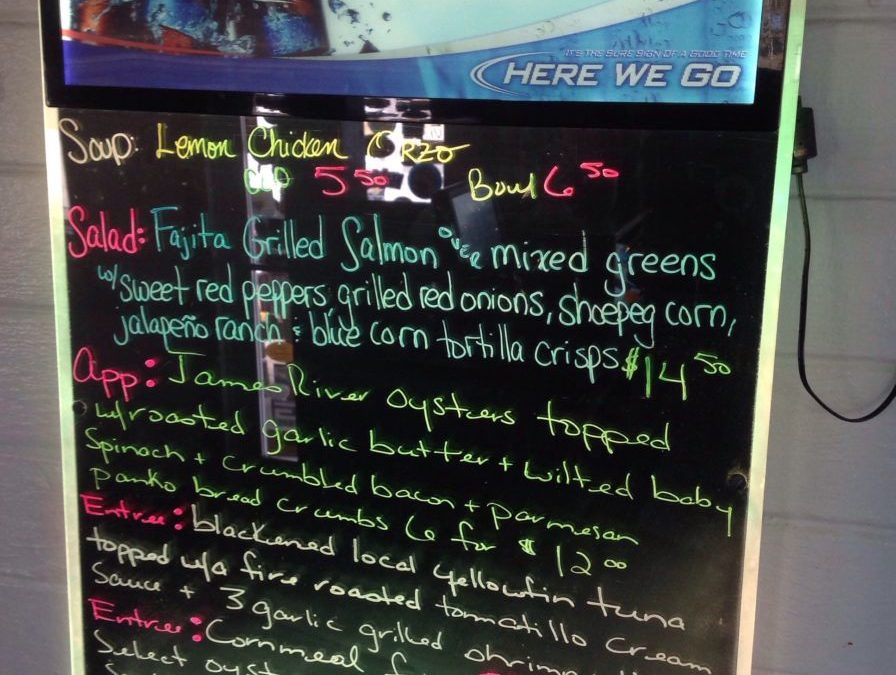 Lunch Specials 2/24/2018