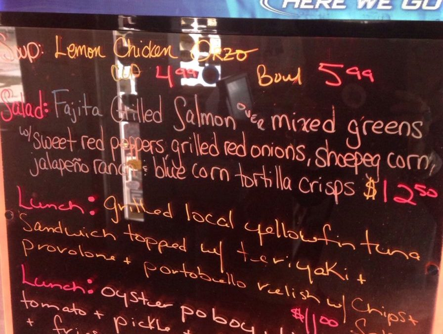Lunch Specials 2/26/2018