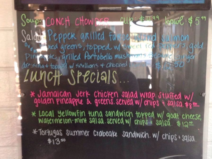 Lunch Specials July 6th