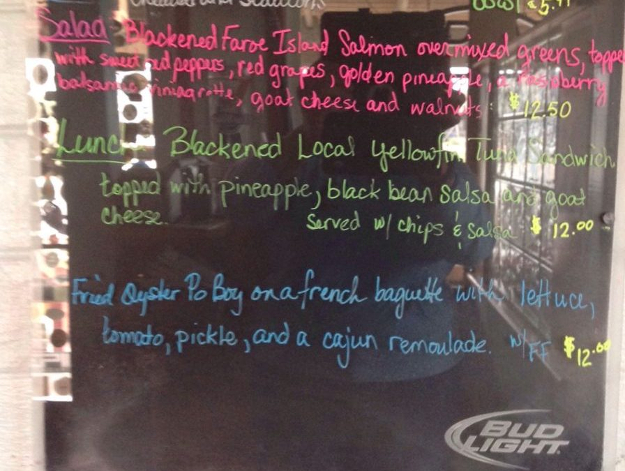 Lunch Specials 10/18/2018