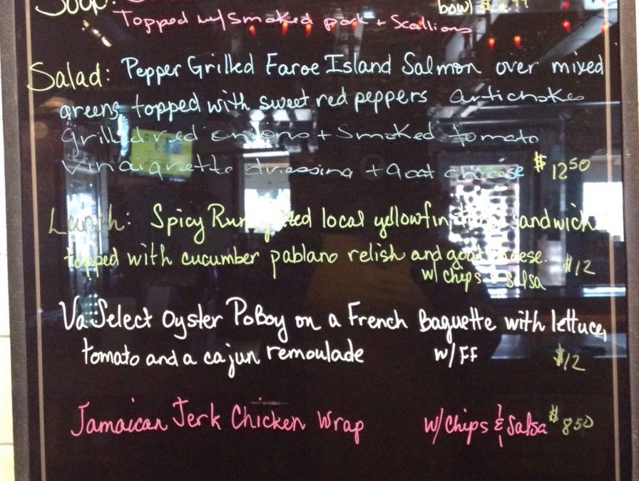 Lunch Specials 11/18/2018