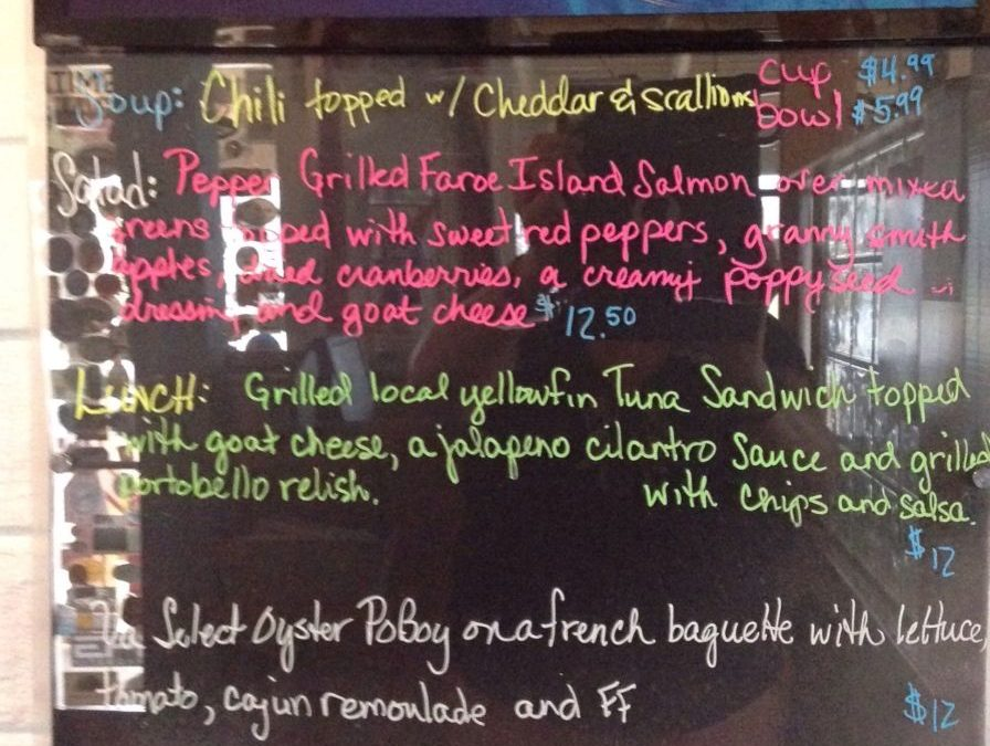 Lunch Specials 11/08/2018