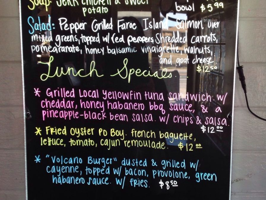 Lunch Specials 1-7-19