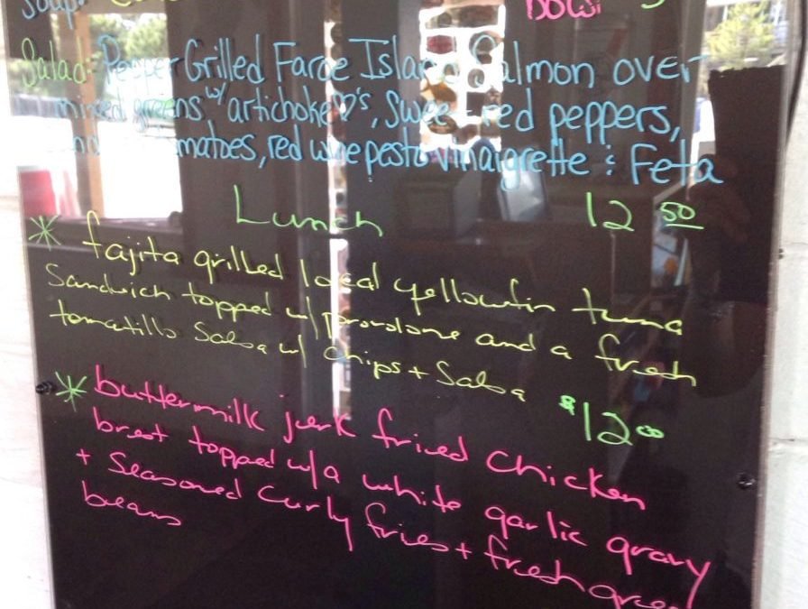 Lunch Specials 4/30/2019