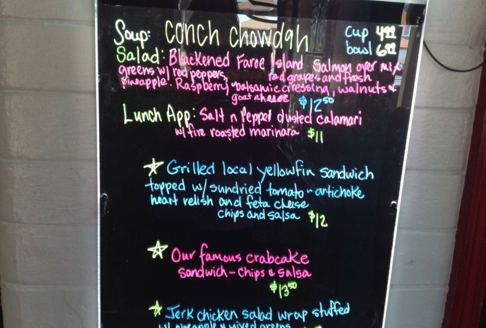 Lunch Specials 9/26
