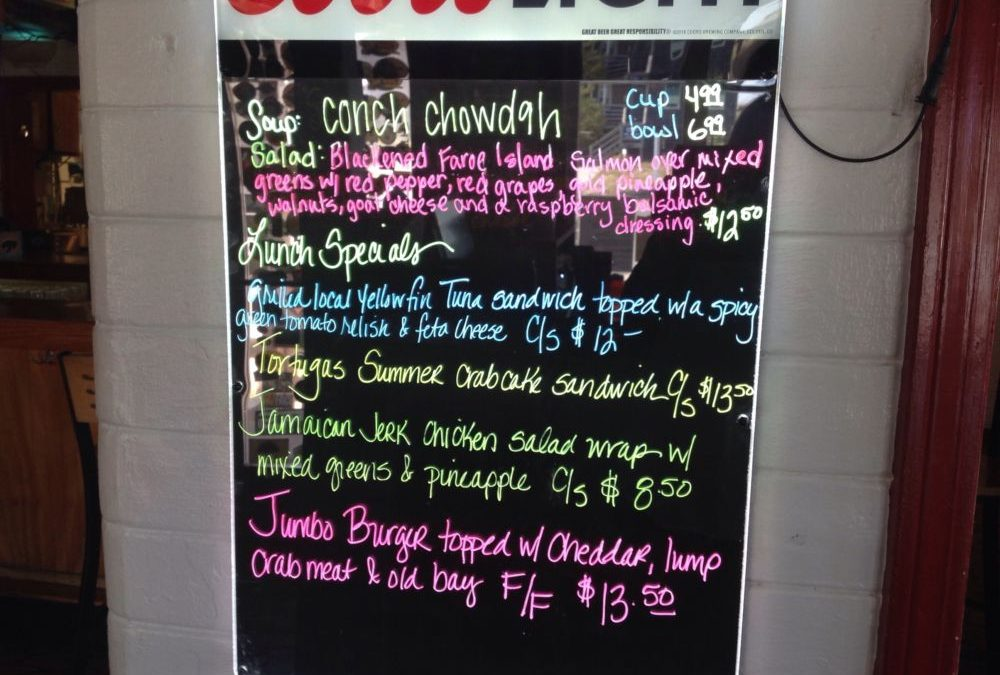 Lunch Specials 9/29/2019