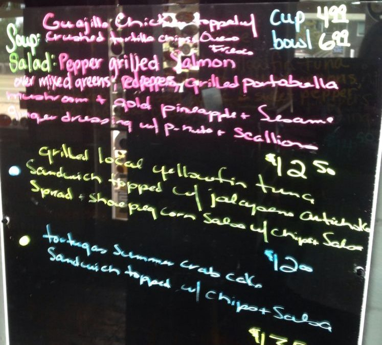 Lunch Specials 9/19/2019