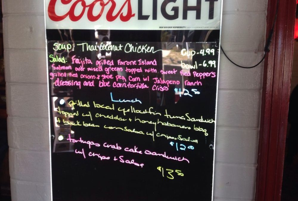 Lunch Specials 10/18/2019