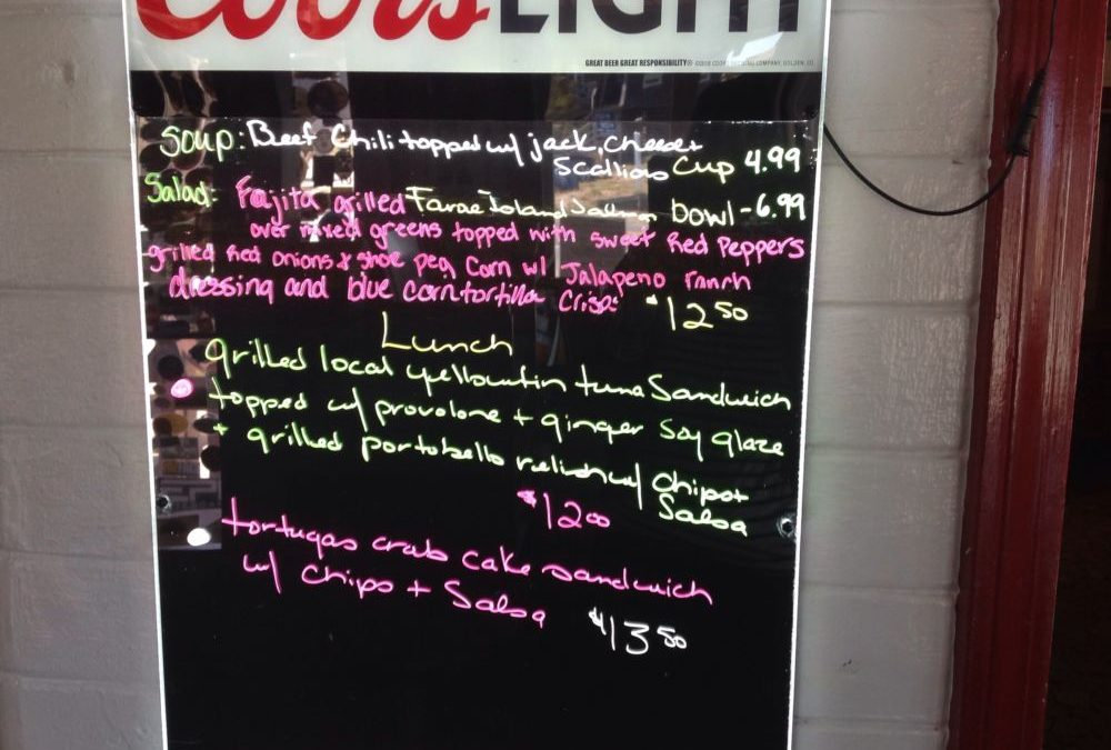 Lunch Specials 10/24/2019