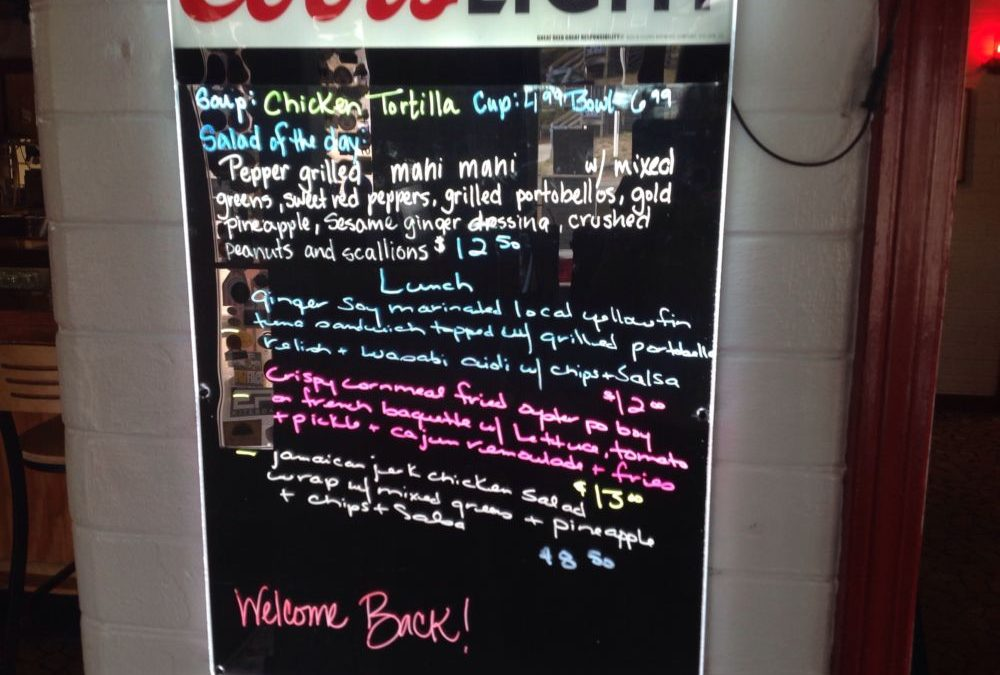 Lunch Specials 12/30/2019