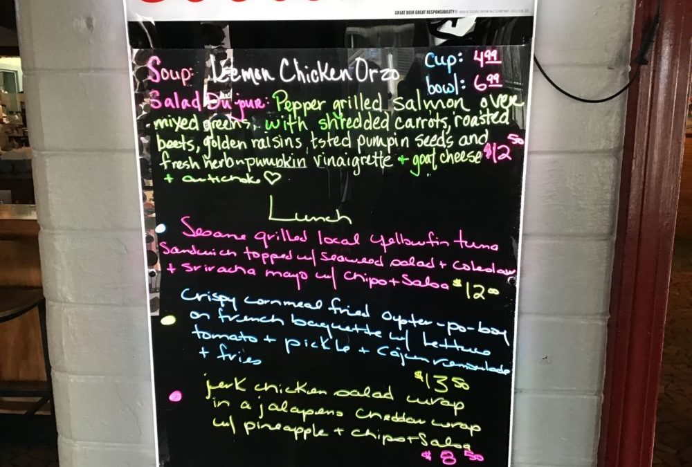Lunch Specials 1/29/2020