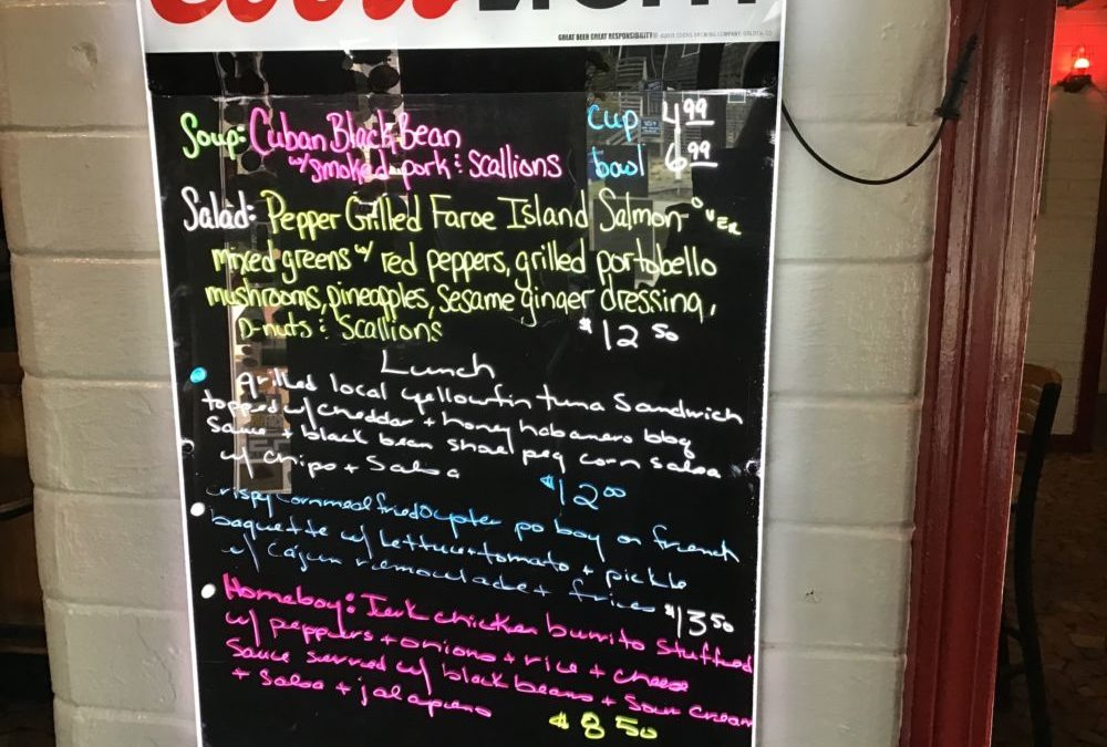 Lunch Specials 2/14/2020