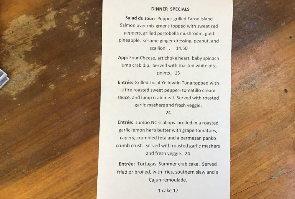 Dinner Specials 7/14/2020