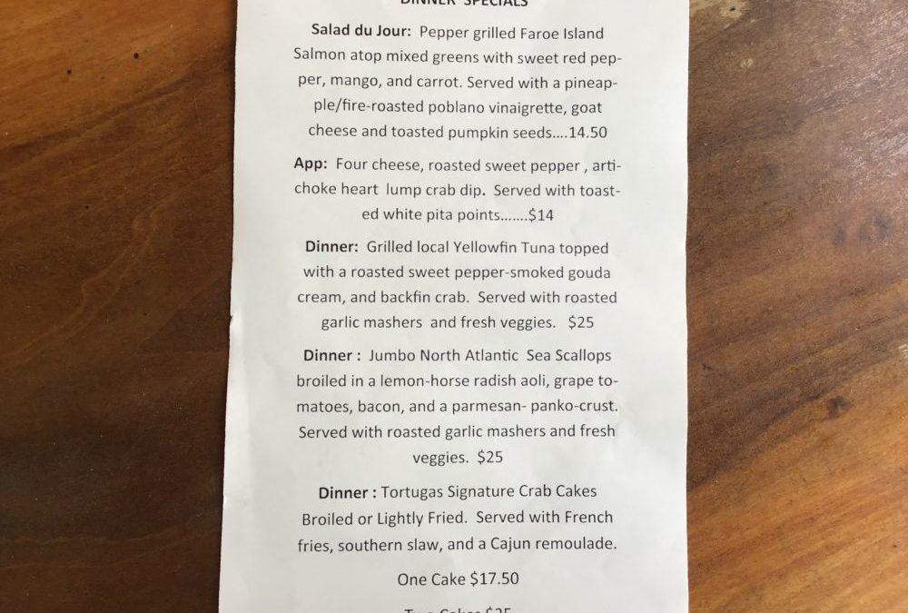 Dinner Specials 8/14/2020