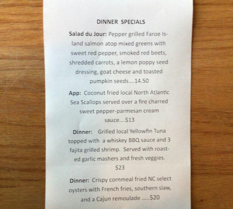 Dinner Specials 11/24
