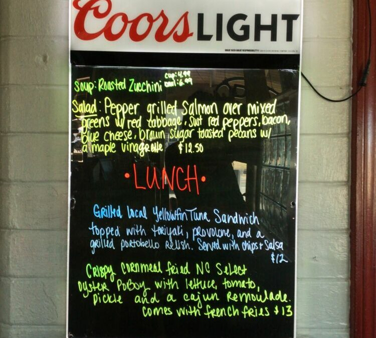 Lunch Specials Wednesday 1/20