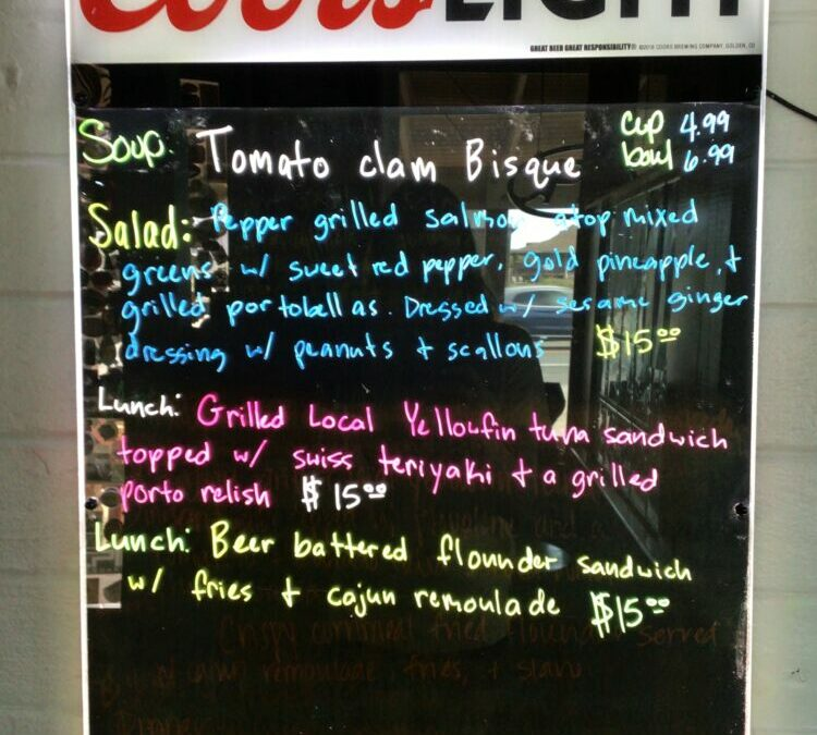 6/30 Lunch Specials