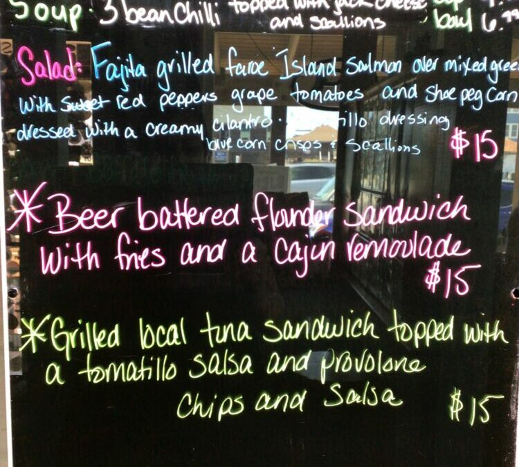 9/21 Lunch Specials